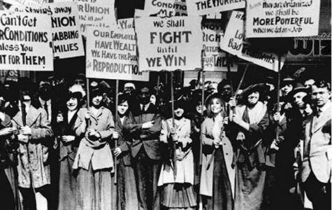 ženy bojující za volební právo (zdroj foto: https://nowthatsprogressive.weebly.com)